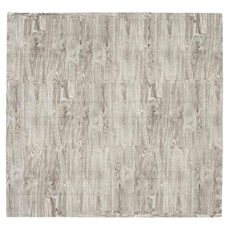 Tadpoles 9 Piece Wood Grain Floor Mat