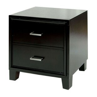 Gunther Contemporary 2 Drawer Nightstand
