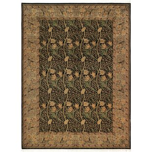 Read Reviews One-of-a-Kind Aaru Dafodils Hand-Knotted Wool Black/Gray Area Rug By Isabelline
