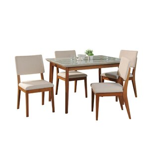 Tedeschi 5 Piece Dining Set by Union Rustic Cool