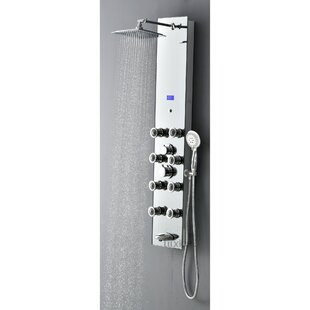 Pressure Balanced Rain Multi-Function Shower Tower Panel Massage System with Handheld Includes Rough-In Valve by Luxier