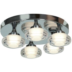 Orren Ellis Tarkington 5-Light LED Outdoor Semi Flush Mount