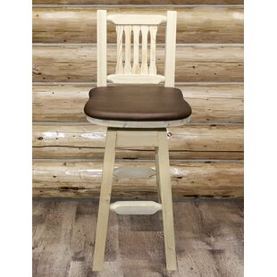 Coupon Abella 30 Swivel Bar Stool by Loon Peak