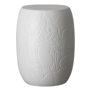 Bungalow Rose Epstein Lotus Engraved Garden Stool