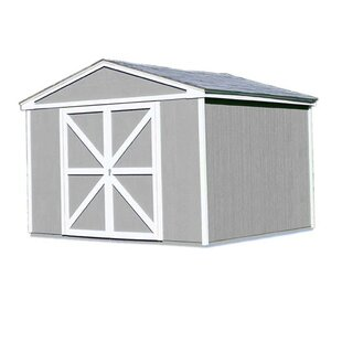 Handy Home Premier Series 10 ft. 6 in. W x 10 ft. 2 in. D Wooden Storage Shed