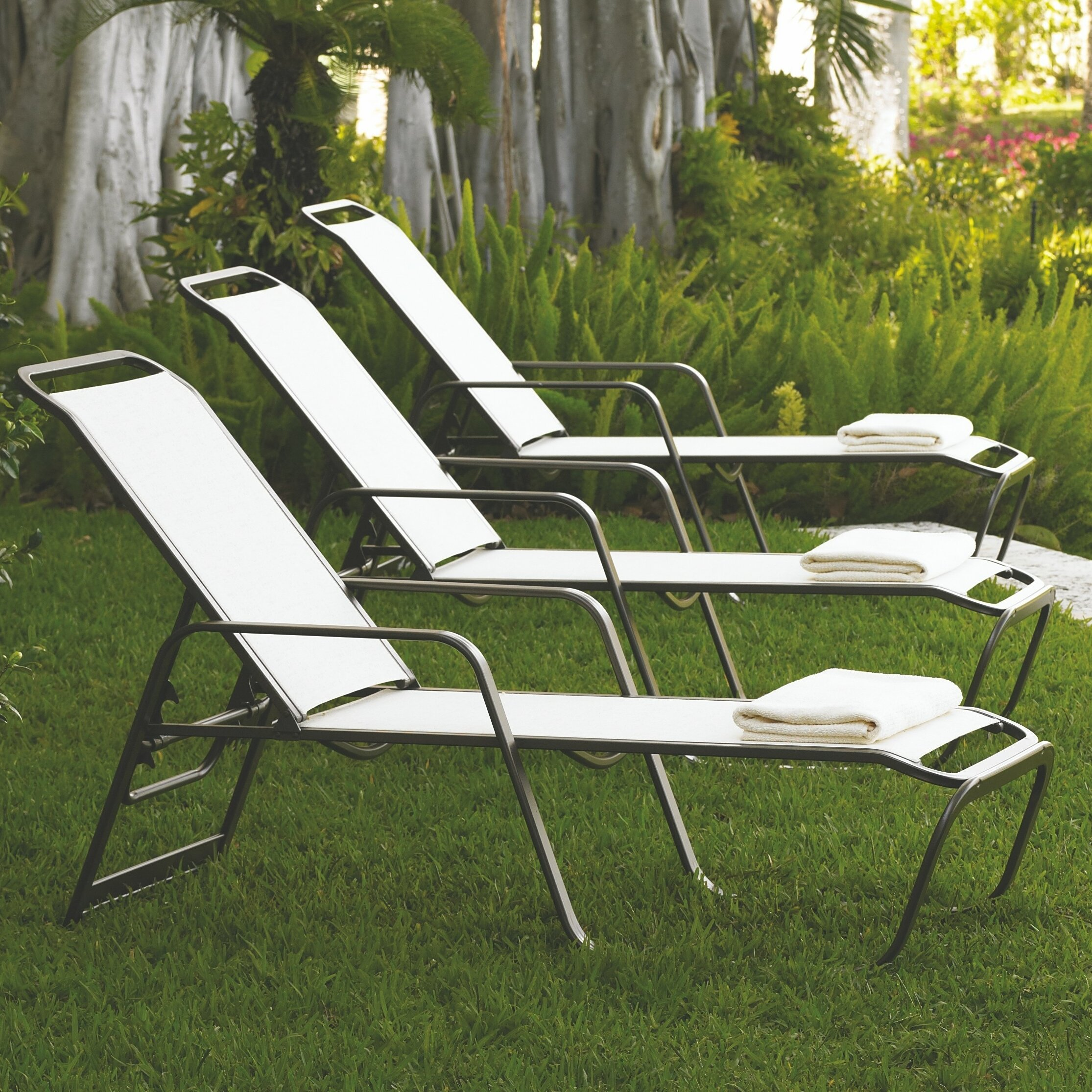 Telescope casual vanese four position reclining chaise for Adams 5 position chaise lounge white