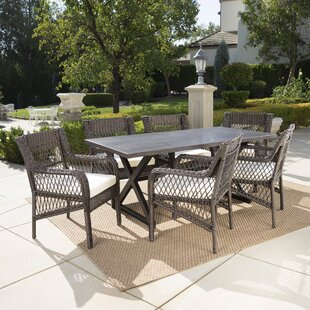 Weccacoe 7 Piece Dining Set With Cushions By Darby Home Co