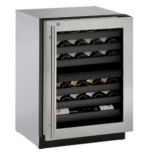 43 Bottle 3000 Series Stainless Dual Zone Built-In Wine Cooler