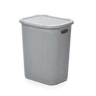Rectangular 50L Laundry Bin With Lid By Symple Stuff