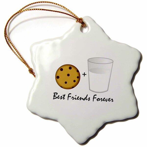 The Holiday Aisle Cute Cartoon Milk And Cookies Holiday Shaped Ornament Wayfair