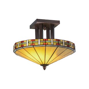 Arizona 2-Light Semi-Flush Mount by Meyda Tiffany