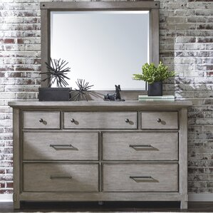 Tarentum 7 Drawer Double Dresser with Mirror by Gracie Oaks