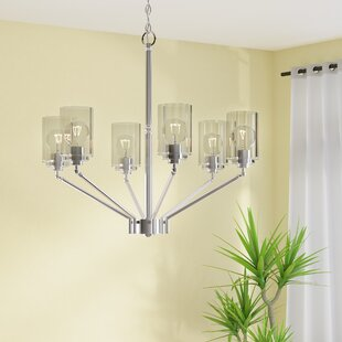 Beachcrest Home Hague 6-Light Shaded Chandelier
