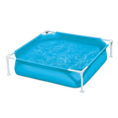 Summer Waves Small Plastic Frame 4Ft X 4Ft X 12In Kiddie Swimming Pool, Blue Polygroup Trading Ltd -  P3040412A
