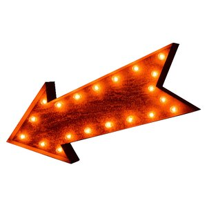 Iconics Arrow Marquee Sign Marquee Sign