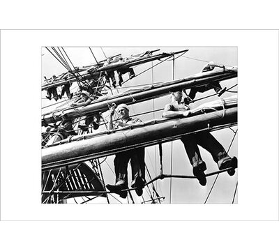 "Furling Sails on the Joseph Conrad' Photographic Print Buyenlarge Size: 28"""" H x 42"""" W x 1.5"""" D -  0-587-19583-5C2842"
