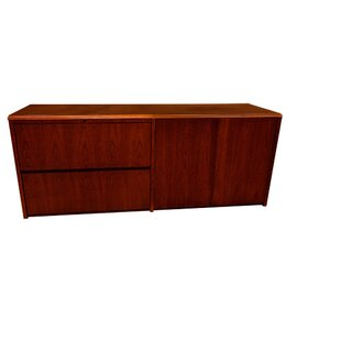 Waterfall Series Lateral File And Doors Credenza Desk by Carmel Furniture Fresh