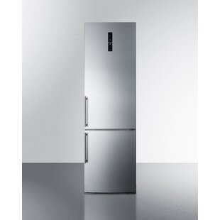 Summit 12.8 Cu. Ft. Counter Depth Bottom Freezer Refrigerator with Icemaker