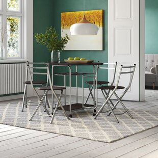 Fiona Folding Dining Set With 4 Chairs By Symple Stuff