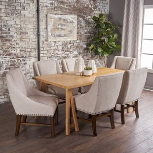 Williamsville Traditional 7 Piece Dining Set by Darby Home Co