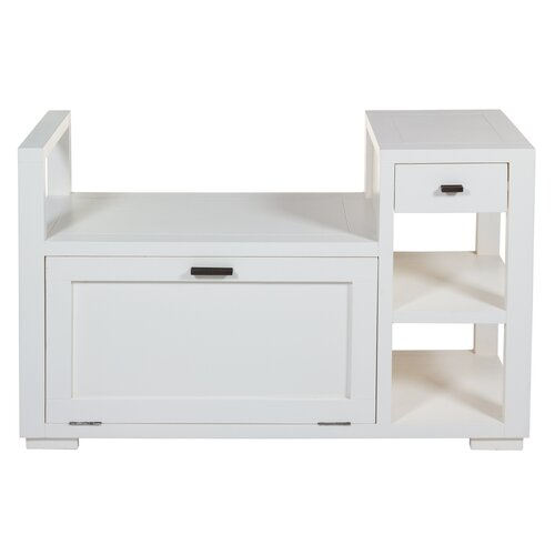 Torpoint Wood Storage Bench Union Rustic Colour: White