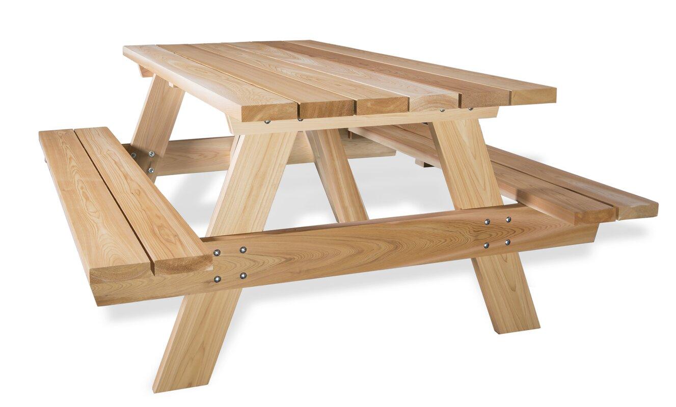 Captivating Cedar Picnic Table