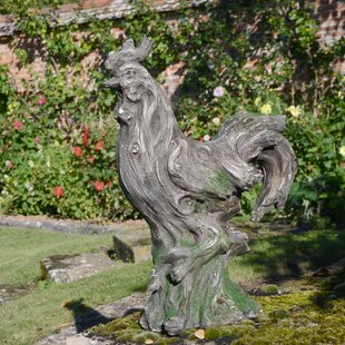 Nailsea Driftwood Effect Cockerel Statue By Brambly Cottage