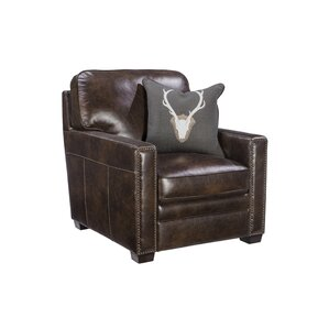 Andersonville Leather Armchair by Foundry Select