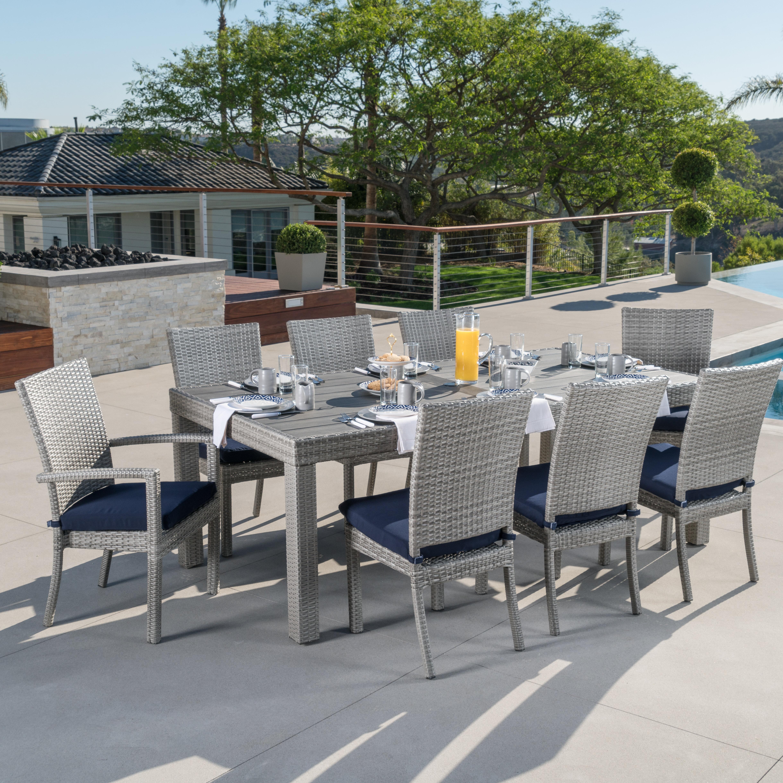 Wade Logan Alfonso 9 Piece Dining Set with Cushion & Reviews | Wayfair