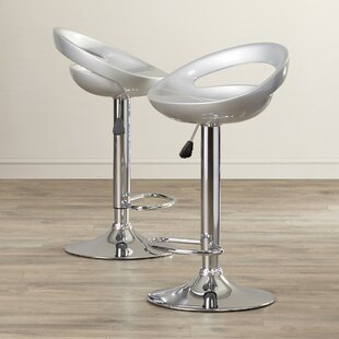 Seagraves Adjustable Height Swivel Bar Stool (Set of 2) by Latitude Run