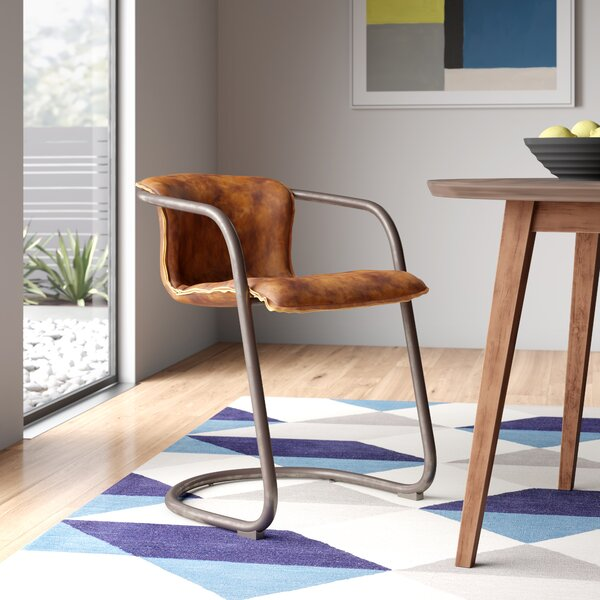 Modern Contemporary Real Leather Dining Chairs Allmodern