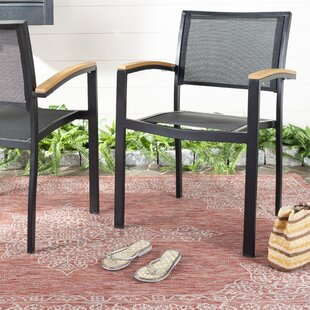Gabrielo Stacking Patio Dining Chair (Set of 2) by Wrought Studio