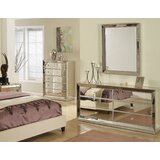 Wolak 6 Drawer Double Dresser with Mirror by Rosdorf Park