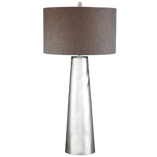Top Solorzano Tapered Cylinder Mercury Glass LED 37.5 Table Lamp By Brayden Studio