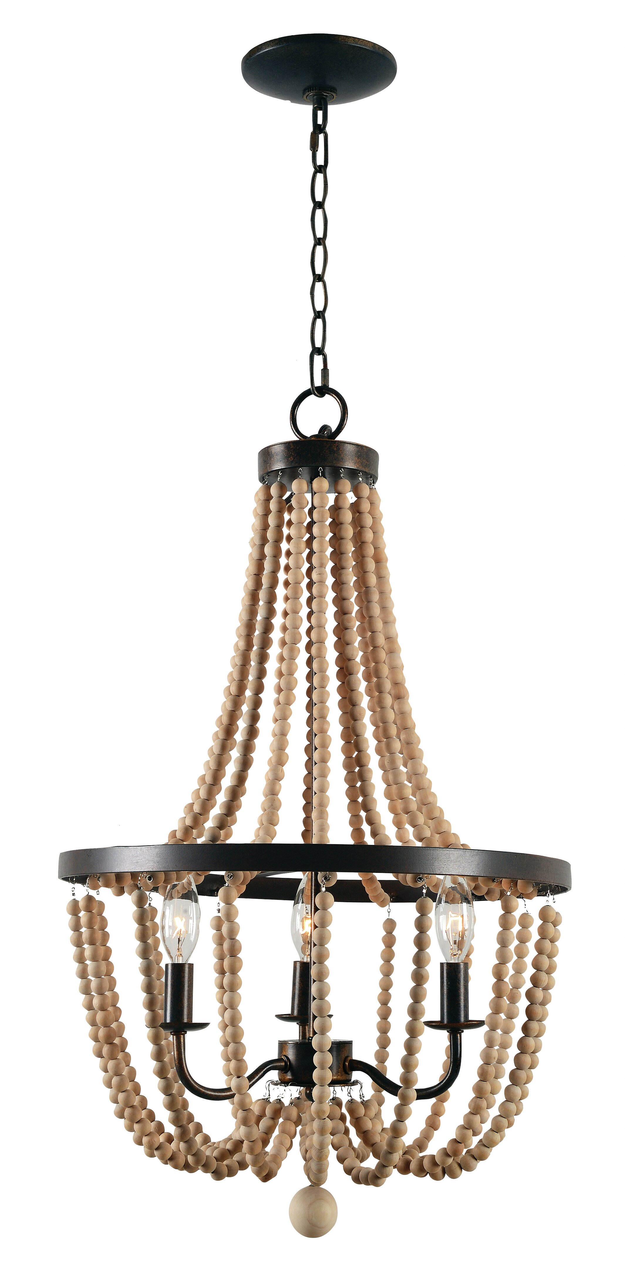 Adelina 3 Light Candle Style Empire Chandelier With Wood Accents Reviews Joss Main
