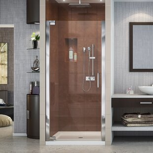 Compare Elegance 36 x 72 Pivot Frameless Shower Door with Clearmax™ Technology By DreamLine