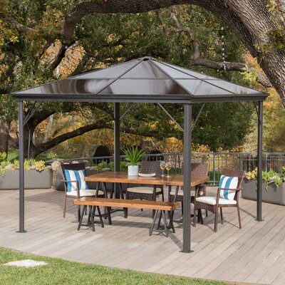 Kaleigh Hardtop 10 Ft. W X 10 Ft. D Aluminum Patio Gazebo