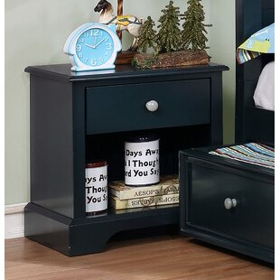Compare prices Evanoff 1 Drawer Nightstand by Harriet Bee