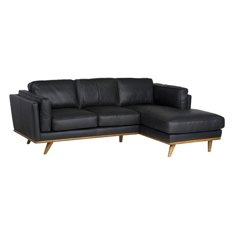 Admirable Pedro Right Hand Facing Leather Sectional Short Links Chair Design For Home Short Linksinfo
