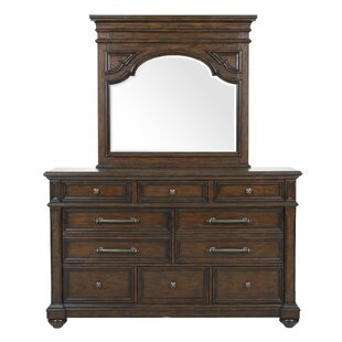 Dimas 2 Drawer Dresser with Mirror