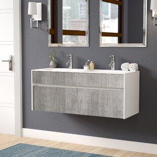 """Save to Idea Board. Wade Logan. Brockman 47"""" Double Bathroom Vanity Set"""