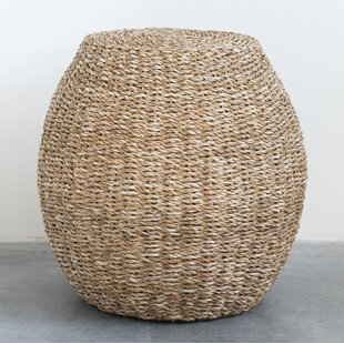 Elianna Handwoven Seagrass Accent Stool by Bay Isle Home