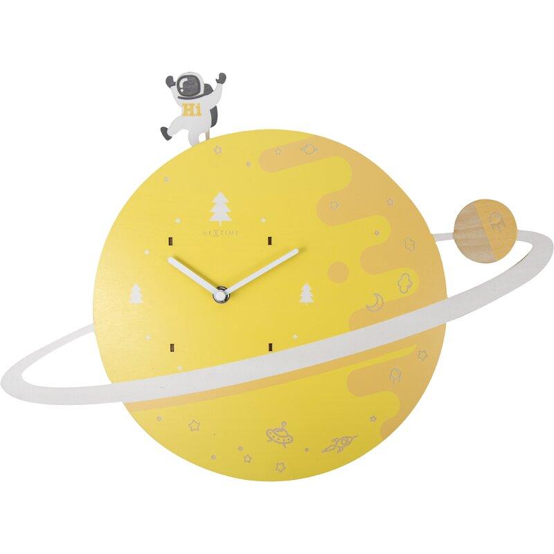 Isabelle Max Spaceman Wood Wall Clock Reviews Wayfair