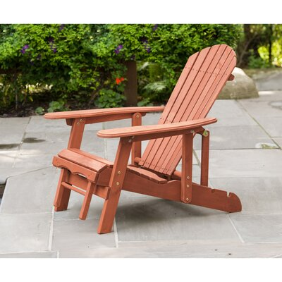 Wood Adirondack Chair Leisure Season