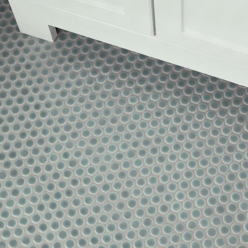 Elitetile Penny 0 8 X 0 8 Porcelain Mosaic Tile Reviews Wayfair