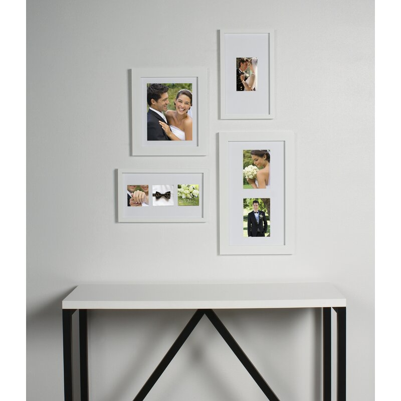 DSOV 4 Piece Gallery Flat Museum Matted Wood Picture Frame Set | Wayfair