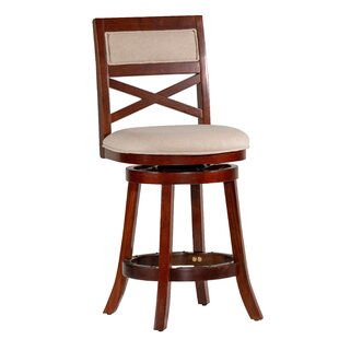 Saylor 24 Swivel Bar Stool Millwood Pines