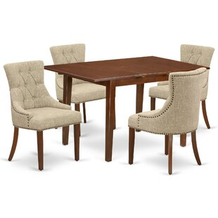 Routt 5 Piece Extendable Solid Wood Dining Set by Winston Porter