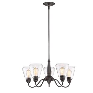 Coldiron 5-Light Shaded Chandelier by Williston Forge