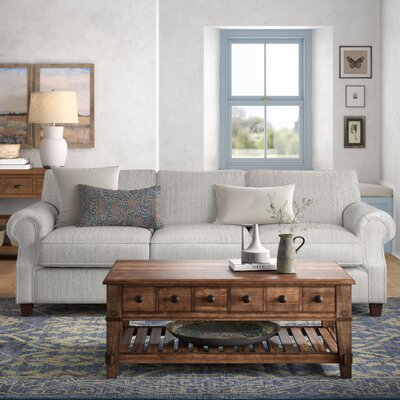 "Dilillo 92"""" Rolled Arm Sofa Fabric: Cruise Adrift -  BirchLane, 81781D7BC7F04AA1ACB92738424C141B"